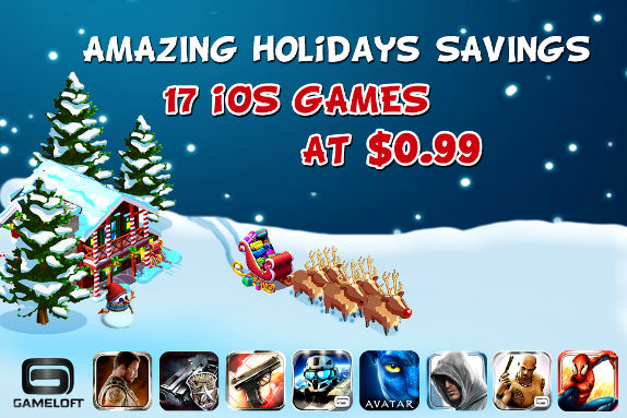 Gameloft year end sale! Games at 0.99$ for Android, iPhone and iPad