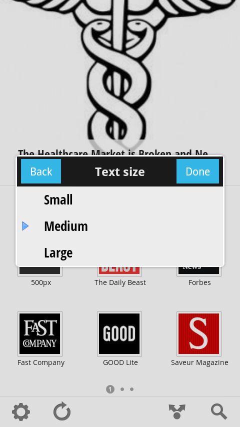 Font Size Setting