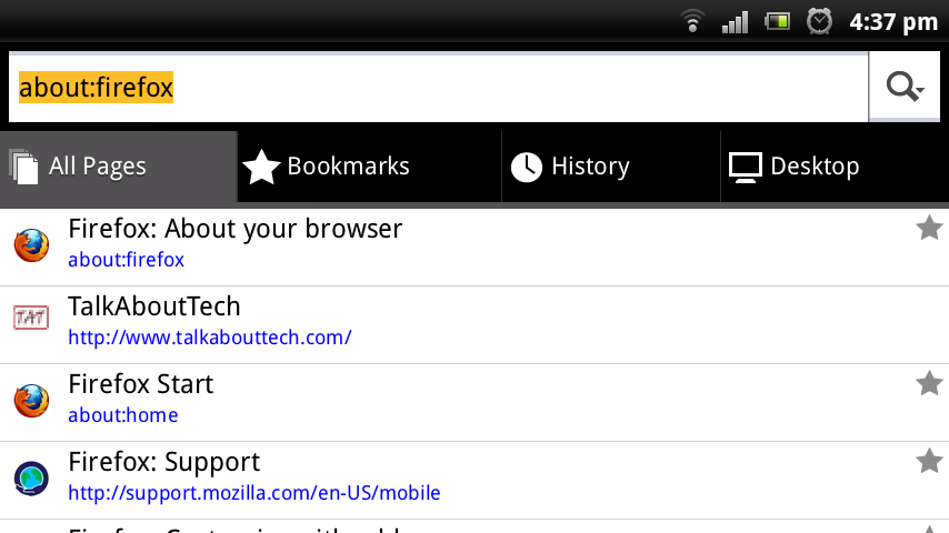 Firefox 9 Screenshots