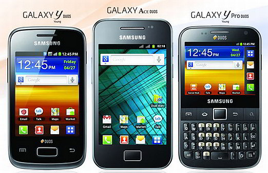 Samsung introduces Galaxy Ace Duos, Galaxy Y Duos, and Galaxy Y Pro in India
