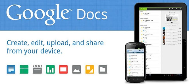 Google Docs for Android adds offline access and better support for tablets